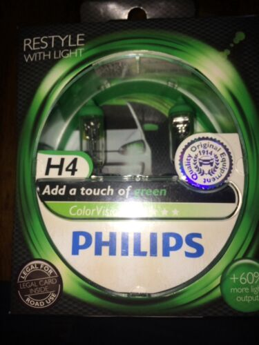 PHILIPS H4 COLOR VISION H4 GREEN COLOUR VISION PHILIPS BULBS