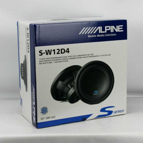 """ALPINE S-W12D4 TYPE S-SERIES 12/"""" 1800W DVC 4-OHM CAR AUDIO SUB WOOFER SW12D4 W12"""