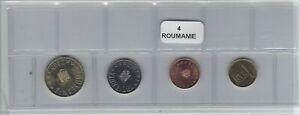 MotivéE Roumanie Série De 4 Pièces De Monnaie
