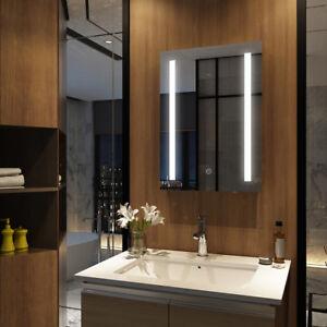 Details zu LED BAD Spiegel mit Touch Schalter Heizmatte Badspiegel mit  Beleuchtung 50x70