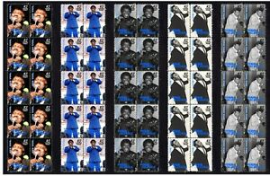PERCY-SLEDGE-SOUL-ICON-SET-OF-5-MINT-TV-VIGNETTE-STAMP-STRIPS