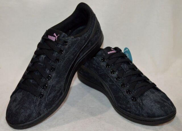 510961db23f Puma Women s Vikky Black Denim Sneakers - Size 8 8.5 9 NWB 363731-01 ...