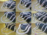 PANZERKETTE Halskette Schlangenkette Königskette Figarokette Silber plattiert