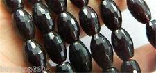 "8x12mm Sri Lanka Red Garnet Faceted Rice Gems Loose Beads 15"""