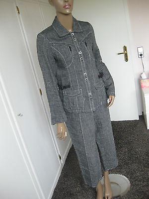 Puntuale Bonita-splendido Pantaloni Vestito Tg 40 Giacca + Pantaloni 7/8 100% Lino-mostra Il Titolo Originale Prezzo Basso