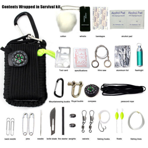 29PCS Outdoor Survival Kit First Aid Tools Camping Rescue Gear Emergency Kit