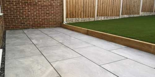 Magnum Slate Grey Porcelain Paving 900x600 slabs garden indian sandstone R11