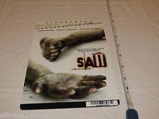SAW HORROR RARE movie mini POSTER collector backer card 8 x 5.5 inch plastic