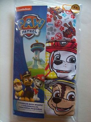 PAW Patrol Underwear Underpants Boys 3 Briefs Select Sz 2T3T 4Toddler NIP