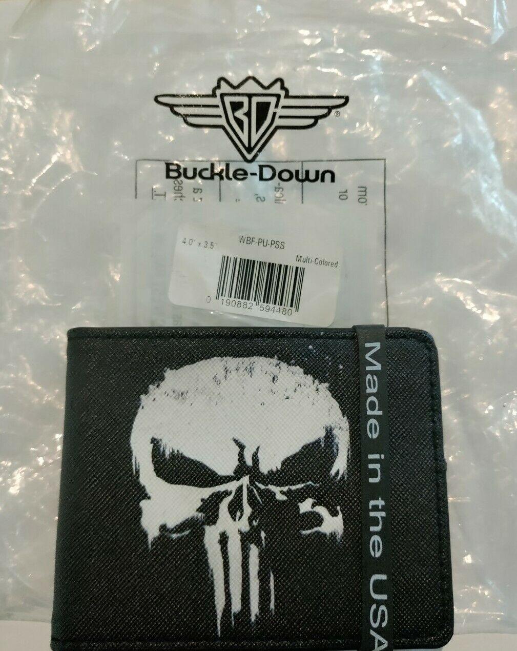 Marvel Punisher Logo Licensed! Bi-Fold Wallet Buckle Down