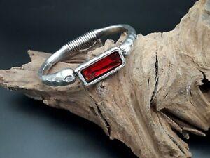 Pulsera-Zamak-alta-calidad-piedra-cristal-ROJO-bisuteria-pulseras-autentico