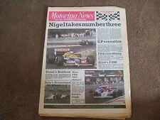 Motoring News 28 May 1986 Belgian GP Pau & Spa F3000 Silverstone F3