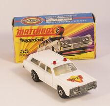 Matchbox Lesney Superfast Mercury Police Car No.55B vNMint + BOX +TOP+ RAR