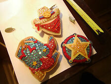 Katherine's Collection Christmas Ornaments Cowboy Theme Lot of 3