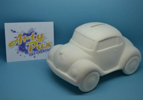 Paint Your Own Ceramic Car Money Bank Kit Personalised Fathers Day Gift Set