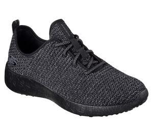 52114-BBK-Black-Skechers-shoes-Men-Memory-Foam-Soft-Sporty-knit-mesh-Comfort-New