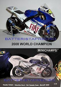 MINICHAMPS-VALENTINO-ROSSI-1-12-YAMAHA-2008-WORLD-CHAMPION-VERY-RARE-SOLD-OUT