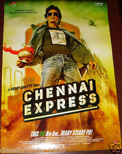 """CHENNAI EXPRESS  DOUBLE SIDED DS POSTER # 2  BOLLYWOOD SHAHRUKH KHAN 27 """"X 39"""""""