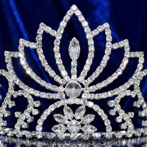 """Bijou de tête accessoire femme miss mariée diadème argenté cristal clair /""""lys/"""""""