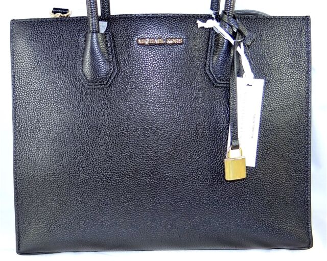 0e2601470570f Michael Michael Kors Mercer Large Convertible Black Leather Tote Bag