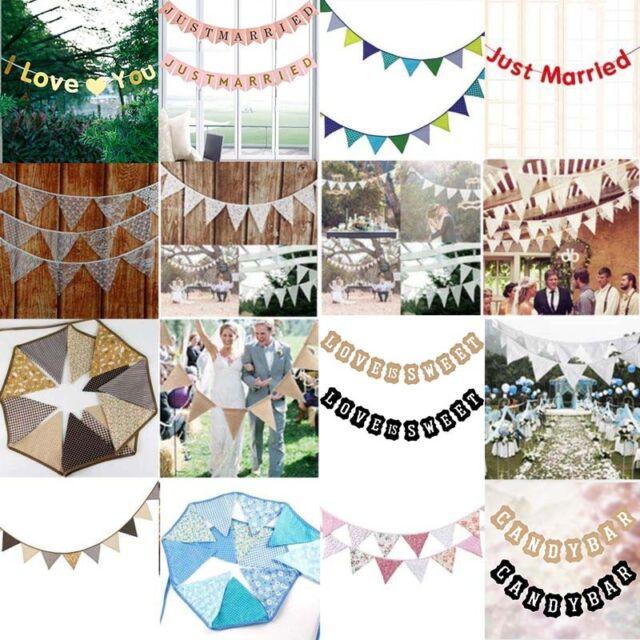 6 x Girlanden Girlande Just Married 1,5 m Deko Party Banner Partykette Hochzeit