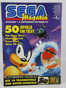 Sega Magazin Videospiele-Magazin Sega Ausgabe 1 September/Oktober 1993 Sonic