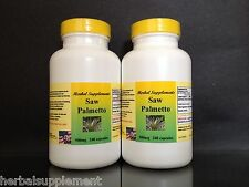 Saw Palmetto 500mg, Prostrate aid, endurance,Made in USA - 480 (2x240) capsules