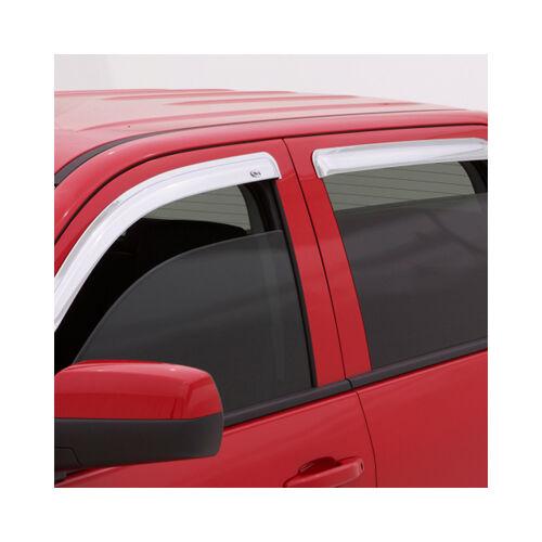 07-14 GMC Yukon AVS Chrome Window Vent Visors Deflectors Rain Guards