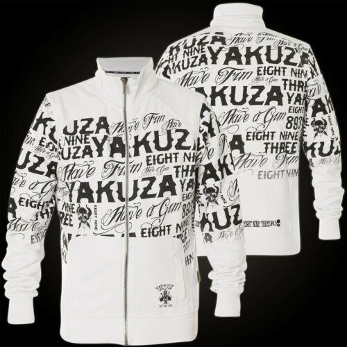 Yakuza Giacca all-over LABEL Zipper zb-10032 BIANCO Giacche