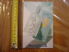 carte publicite parfum Fleur d eau ROCHAS