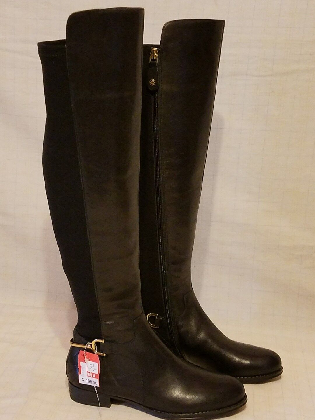 ISAAC MIZRAHI Equestrian Leather Upper IMTORY  Riding Boots - sz 5-1 2 - NWT 198   retail stores