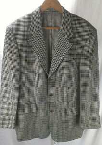 0396a1082d6 Image is loading HUGO-BOSS-POSEIDON-Houndstooth-Wool-Sport-Coat-Blazer-