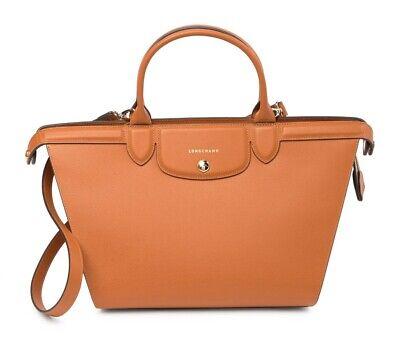 NWT Longchamp Le Pliage Heritage Leather Satchel Crossbody Bag BROWN  AUTHENTIC | eBay