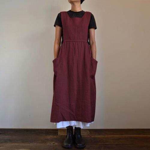 UK Womens Summer Sleeveless Strappy Pocket Casual Baggy Pinafore Dungaree Dress