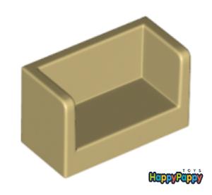 Lego 8x Panel Abgerundete Kanten 1x2x1 Beige Tan Paneel 23969 Neuware New