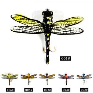 Libellule-Sec-Mouches-Insectes-Leurre-Peche-Truite-Appats-Artificiels-Leurre-Du