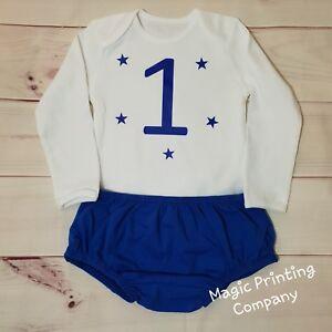 Image Is Loading Baby Boys 1st Birthday Cake Smash Outfit Bodysuit