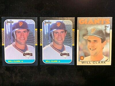 1987 Donruss #66 Will Clark Rookie 2 1986 1 Topps Traded #24t Will Clark Lot 3