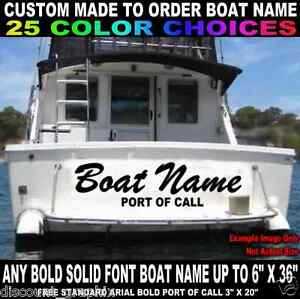 X CUSTOM MADE TRANSOM BOAT NAME VINYL DECAL LETTERING W - Decals for boats canada