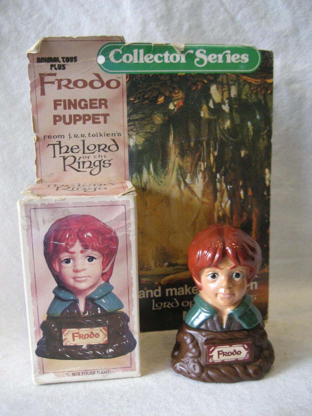 FRODO vintage LOTR Finger Puppet figure 1978 Tolkien Lord of the Rings w/ BOX