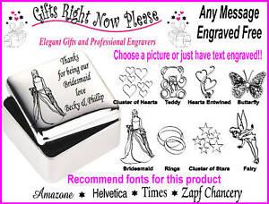 Engraved Square Trinket Box Flower Girl Gift