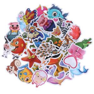 50Pcs-Cute-cartoon-animals-DIY-notebook-suitcase-laptop-guitar-bike-stickers-ES