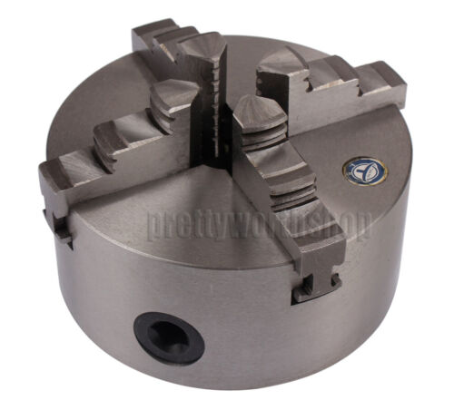 Dia 125mm 4-Jaw Self-Centering Lathe Chuck For Wood 4th Axis CNC Rotary Table
