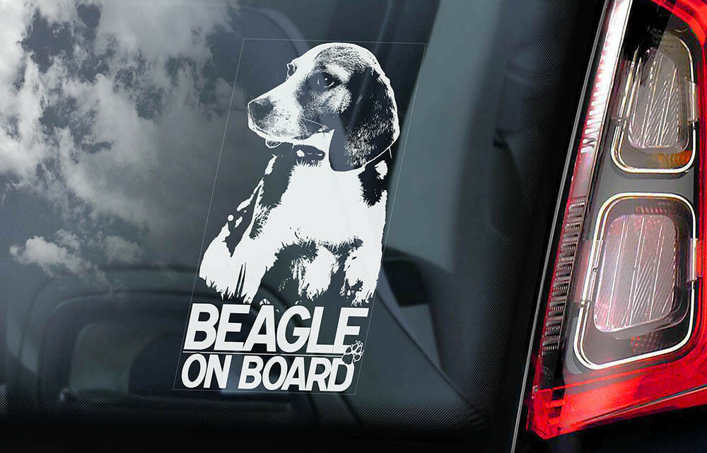 Car Window Sticker V01 Sign Gift Idea Decal Chinese Crested Dog on Board