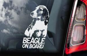 Beagle-On-Board-Auto-Adesivo-per-Finestre-Inglese-Cane-Firmare-Idea-Regalo