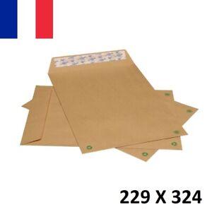 5X Enveloppe Kraft Courrier Auto-Adhésives Brun 229x324mm 22,9x32,4cm C4 A4