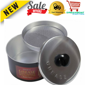 Strainer Reuse Pot Kitchen Grease Seperator Frying Cooking Storage Container NEW