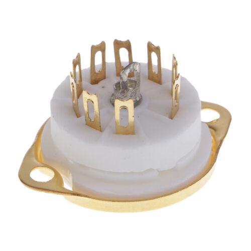 Vergoldeter 9 poliger PCB Montage Vakuum Röhrensockel GZC9 F für