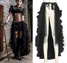 Steampunk Gothic RQ BL Rock steam lang schwarz Umhang cape Vintage Skirt Rüschen