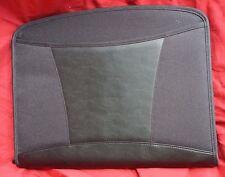 Black Cloth Leather Executive College Zipper University Portfolio Folder Dart